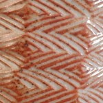 Close up of shino bowl