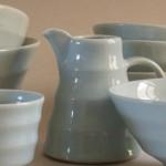 Blue celadon pots