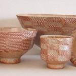 Group of shino bowls